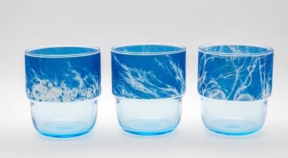 candle glasses Algae
