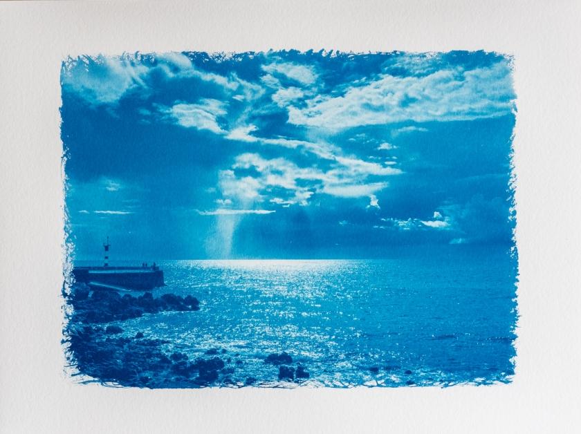 rain cyanotype hake