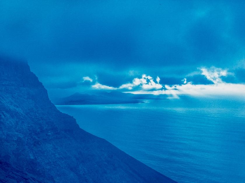 Risco clouds cyanotype
