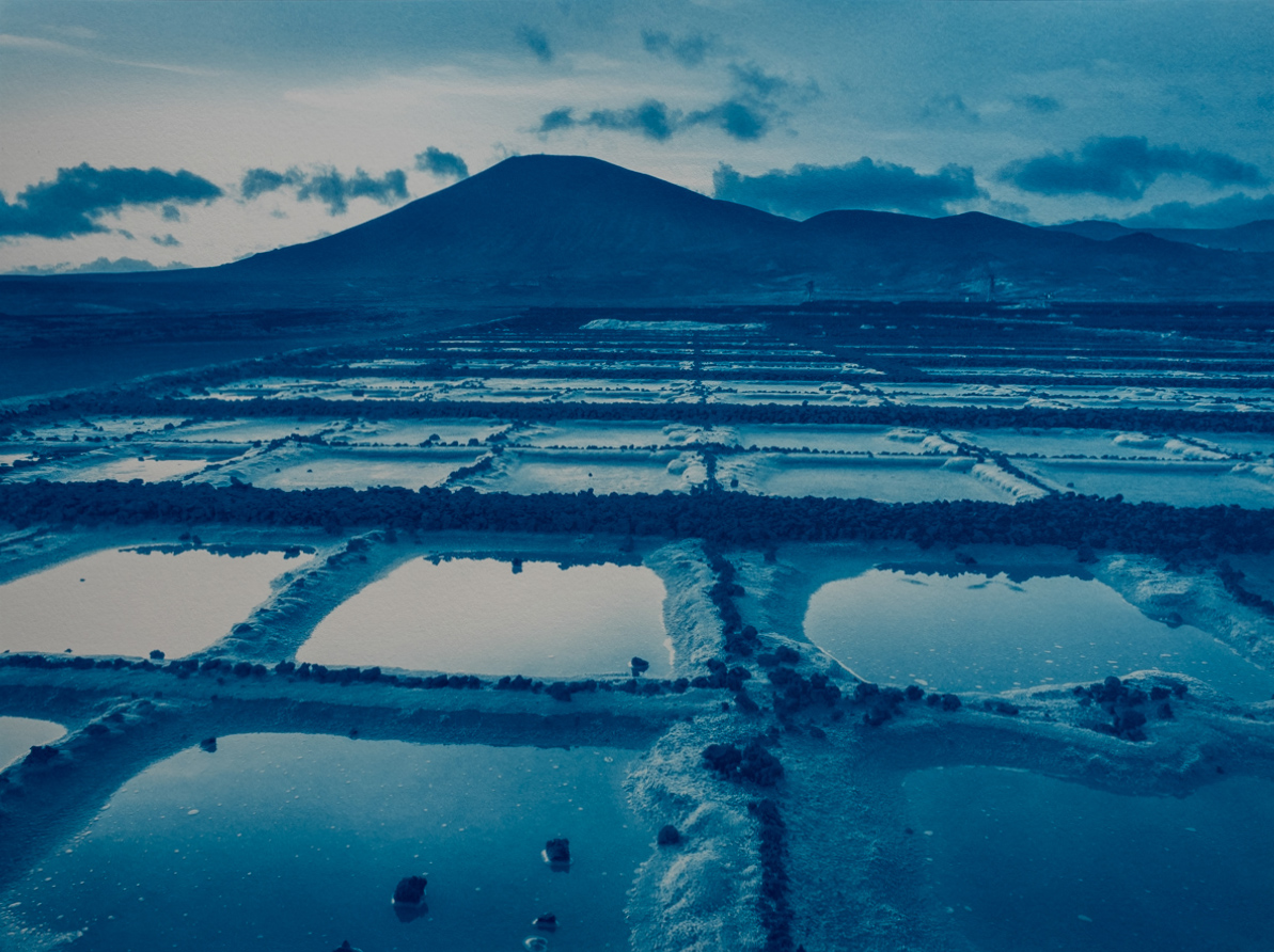 "40x30cm (16x12"") cyanotype print: saltworks, Los Cocoteros"