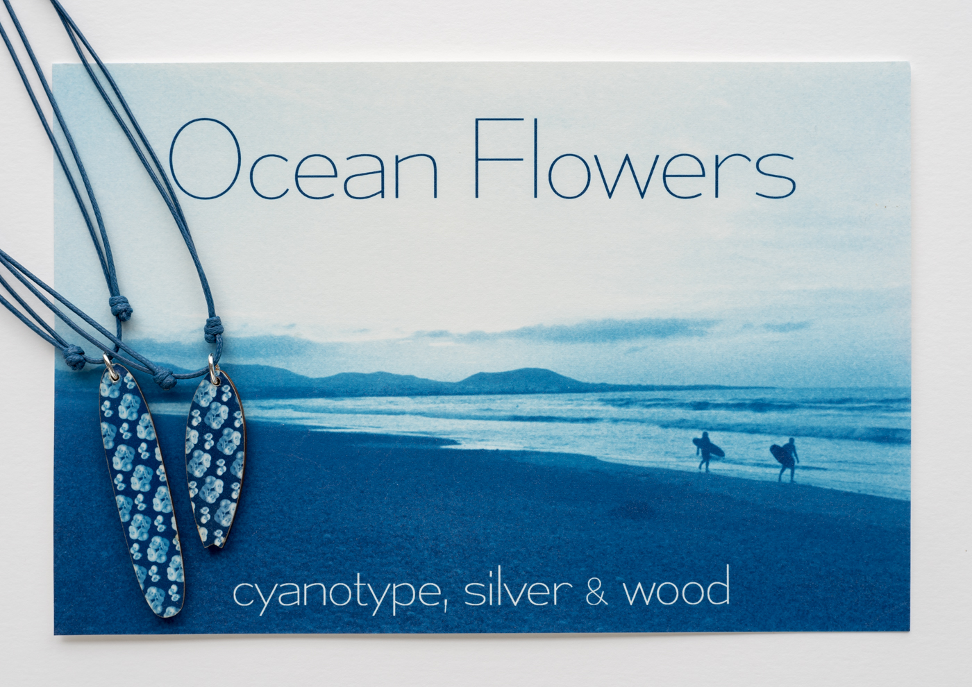 Ocean Flowers cyanotype surf 1