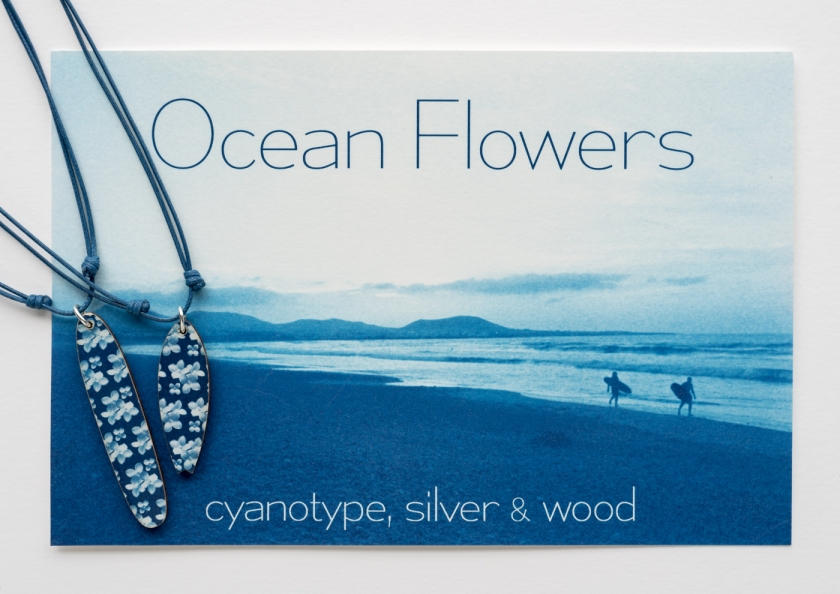 Ocean Flowers cyanotype surf 2