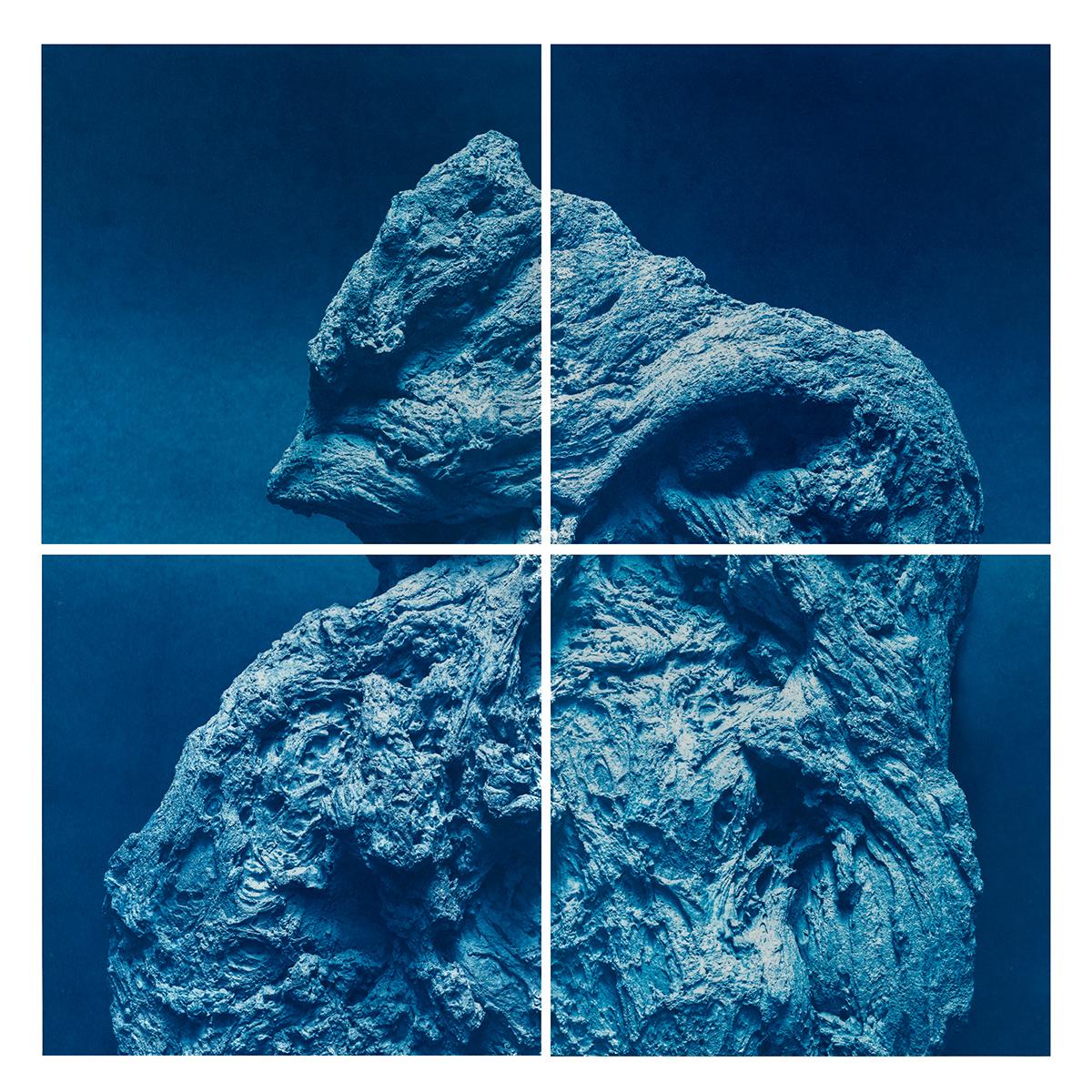 Rock cyanotype
